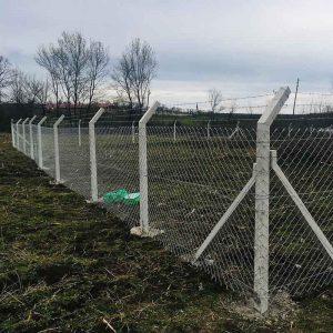 beton direkli tel çit montajı